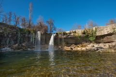 Beautiful waterfall in Pedrosa de Tobalina, Burgos, Castilla y Leon, Spain. Beautiful waterfall in Pedrosa de Tobalina, Burgos, Castilla y Leon, Spain stock image