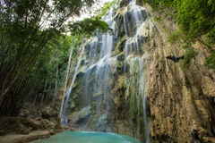 A beautiful waterfall, Philippines. Stock Photos