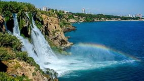 The beautiful waterfall stock footage