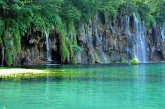Beautiful waterfall in Plitvice, Croatia Stock Photography
