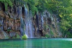 Beautiful waterfall in Plitvice, Croatia Stock Photo