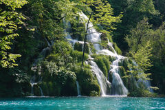 Beautiful waterfall in Plitvice Royalty Free Stock Photography