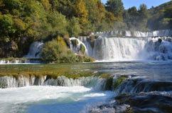 Beautiful waterfall on Plitvice Lake Stock Photo