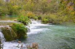 Beautiful waterfall on Plitvice Lake Royalty Free Stock Images