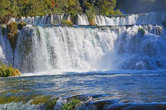 Beautiful waterfall on Plitvice Lake Stock Image