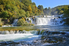 Beautiful waterfall on Plitvice Lake Royalty Free Stock Photography