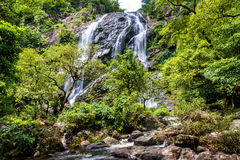 Beautiful waterfall in rain forest, Klong Lan National Park in Kampangpetch, Thailand Royalty Free Stock Photos