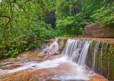 Beautiful waterfall in rainforest. Stock Photo