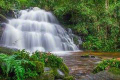 Beautiful waterfall in rainforest at phu tub berk mountain  phet. Chabun, Thailand. & x28;Mun Dang waterfalls& x29 Royalty Free Stock Photo