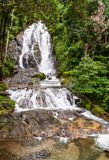 Beautiful waterfall in Ranong Thailand Royalty Free Stock Photography