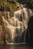 Beautiful waterfall from a river in Sweden royalty free stock photos