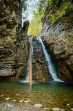 Beautiful waterfall in the rocks Stock Photos