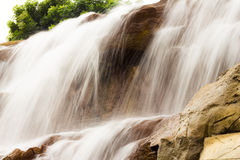 Beautiful waterfall on the rocks Royalty Free Stock Photography