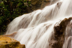 Beautiful waterfall on the rocks Royalty Free Stock Photo