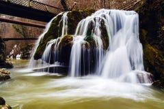 Beautiful waterfall in Romania royalty free stock photos