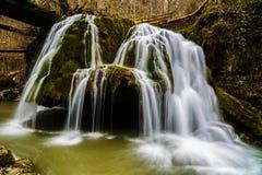 Beautiful waterfall in Romania stock photos