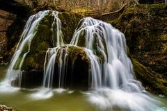 Beautiful waterfall in Romania royalty free stock photo