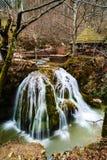 Beautiful waterfall in Romania stock photo