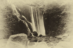 A beautiful waterfall in a Scottish Glen. Royalty Free Stock Image