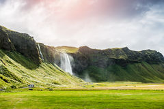 Beautiful waterfall Seljalandsfoss, Iceland Stock Photos