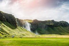 Beautiful waterfall Seljalandsfoss, Iceland Stock Photos
