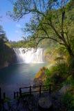 Beautiful Waterfall in Shifen Waterfall,Taiwan,Long Exposure Royalty Free Stock Photo