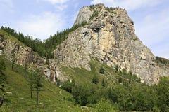 Beautiful Waterfall Shirlak in Altai Mountains Stock Photos