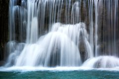 Beautiful  waterfall with silky smooth water Stock Photos