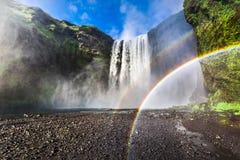 Beautiful waterfall Skogafoss, Iceland Stock Photos