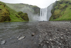 Beautiful waterfall Skogafoss, Iceland. Royalty Free Stock Image