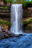 Beautiful Waterfall in soft focus Stock Photography