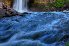 Beautiful Waterfall in soft focus Royalty Free Stock Photography