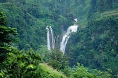 Beautiful waterfall in Sri Lanka Royalty Free Stock Photography