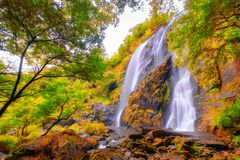 Beautiful waterfall stream at Khlong-Lan National Park. Thailand Royalty Free Stock Image