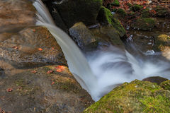 Beautiful waterfall streams Royalty Free Stock Images