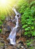 Beautiful waterfall. In the Swiss Alps Stock Image