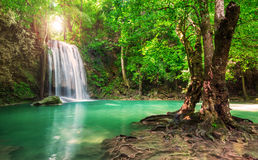 Beautiful waterfall in Thailand National Park stock images