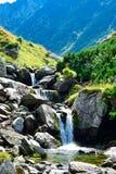 Beautiful waterfall,Transfagarasan mountain road, Romanian Carpathians Stock Photography