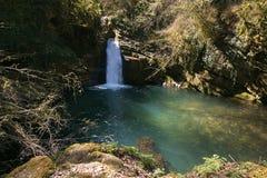 Beautiful waterfall of Trevi nel Lazio Royalty Free Stock Photography