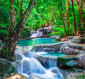 Beautiful waterfall in The tropical forest Royalty Free Stock Photo
