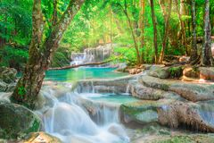 Beautiful waterfall in tropical forest Royalty Free Stock Image