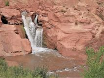 Capitol Reef Waterfall royalty free stock images