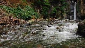 Beautiful waterfall stock video footage