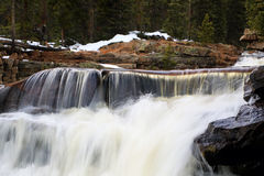 Beautiful waterfall in the Uinta Mountains Royalty Free Stock Images