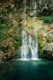 Beautiful waterfall Veliki Buk, Lisine in Serbia. East Europe stock image