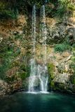 Beautiful waterfall Veliki Buk, Lisine in Serbia. East Europe royalty free stock images