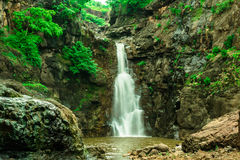 Beautiful Waterfall, tree, valley Royalty Free Stock Images