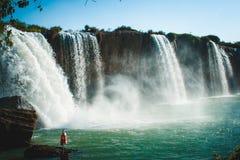 Beautiful waterfall in Vietnam. Daklak province Royalty Free Stock Photos