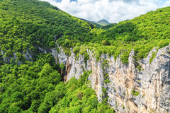 Beautiful waterfall in Vratsa Balkan Mountains Stock Images