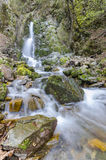 Beautiful waterfall wide angle lens, Macedonia Royalty Free Stock Images
